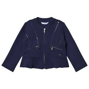 Mayoral Navy Jersey Studded Jacket 2 years