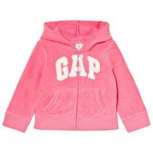 GAP Print Logo Hoodie in French Terry Light Pink 18-24 mnd