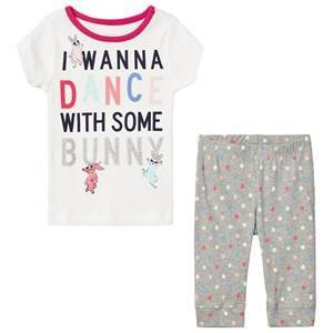 GAP White and Gray I Wanna Dance Spotted Pyjamas 4 r