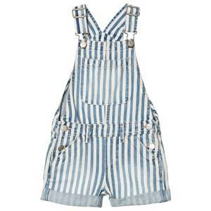 GAP Blue Railroad Stripe Overalls M (8-9 r)