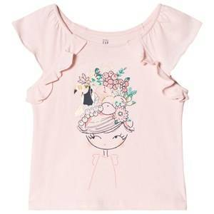 GAP Flutter Pink Tee Girl Fruit Print 18-24 mnd