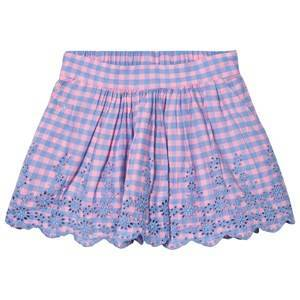 GAP Hot Pink and Check Embroidered Frill Skirt XL (11-12 r)