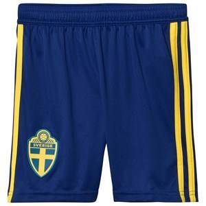 Sweden National Team Sweden 2018 World Cup Home Shorts Blue 13-14 Years