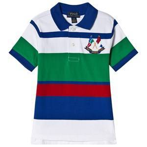 Ralph Lauren Multi Colour Polo with Crossed Flags Logo S (8 years)