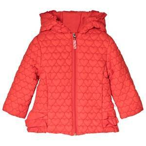 Billieblush Red Heart Quilt Hooded Puffer Coat 2 years
