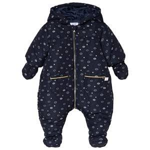 Absorba Navy Cloud and Star Coverall with Booties and Mittens 3 months
