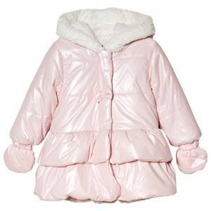 Absorba Pink Shimmer Bow Coat 6 months