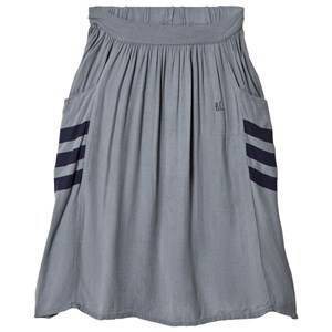 Bobo Choses Happy Sad Empty Midi Skirt Dusty Blue 6-7 r