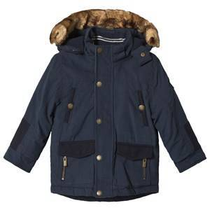 Mayoral Navy Fur Hooded Parka 4 years