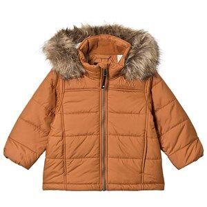 Didriksons Malmgren Kids Jacket Leather Brown 120 cm (6-7 r)