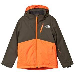 The North Face Khaki and Orange Snow Quest Plus Ski Jacket L (14-16 years)