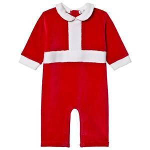 Kissy Kissy Red Tis the Season Velour One-Piece 0-3 months