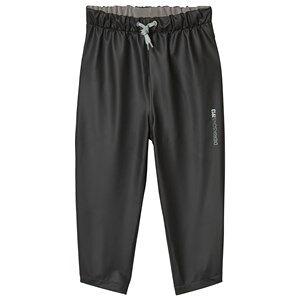Didriksons Black Midjeman Rain Pants 90 cm