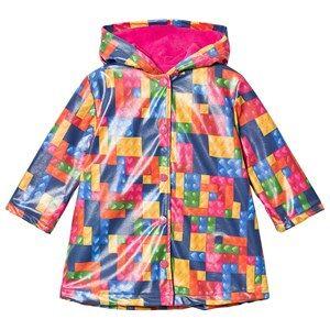 Agatha Ruiz de la Prada Multicolor Patchwork Print Raincoat 5 years