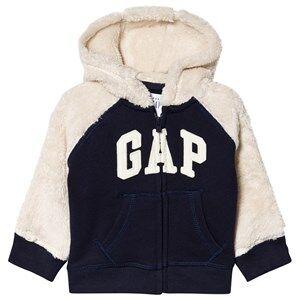 GAP Sherpa Hoodie Navy 6-12 mnd