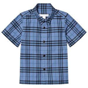 Burberry Sammi Check Short Sleeve Shirt Blue 14 years