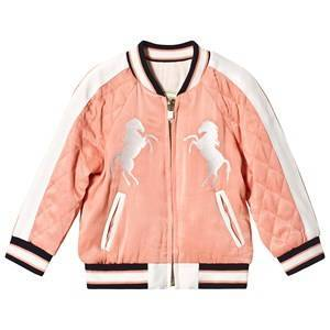 Chlo Terracotta Horse Applique Reversible Bomber Jacket 6 years