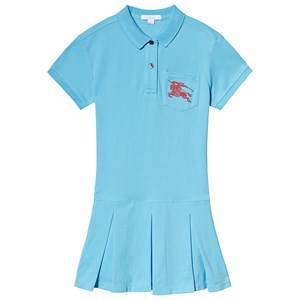 Burberry EKD Polo Dress Hydrangea Blue 14 years