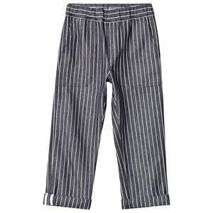 Bonpoint Navy and White Stripe Cotton Pants 12 years