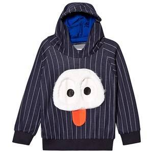Wauw Capow Rude Ruddi Sweatshirt Blue with White Stripes 4-5 years