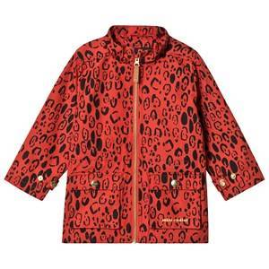Mini Rodini Leopard Piping Jacket Red 128/134 cm