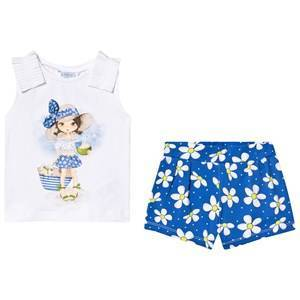 Mayoral Dodger Blue Patterned T-Shirt and Shorts Set 6 years