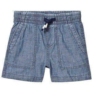 GAP Chambray Shorts Indigo Blue 4 r