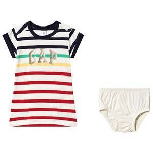 GAP Fr Arch Dress Red Stripe Gap 12-18 mnd