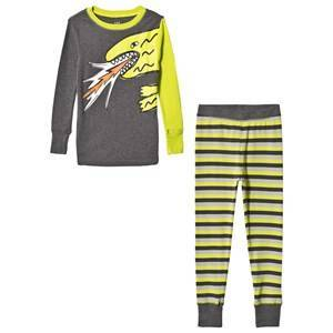GAP Grey & Slime Lime Monster Pajamas 27 (US 10)