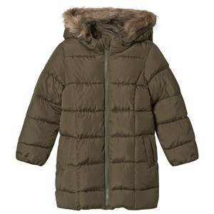 GAP Warmest Puffer Jacket Olive S (6-7 r)