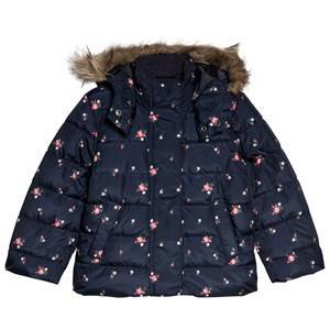 GAP Navy Uniform Floral Padded Coat XL (12-13 r)