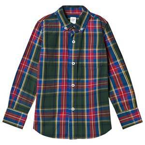 GAP Poplin Plaid Long Sleeve Shirt Deep Hunter XL (12-13 r)