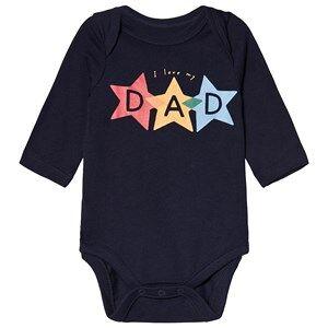 GAP Printed Baby Body Navy Uniform 18-24 mnd