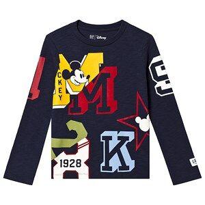 GAP True Indigo Mickey Mouse Long Sleeve Tee XL (12-13 r)