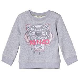 Kenzo Grey and Pink Tiger Embroidered Sweatshirt 8 years