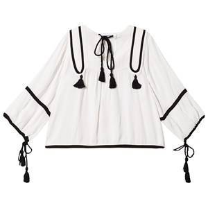 How To Kiss A Frog Claire Blouse White/Black Embroidery 8 r