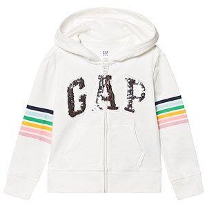 GAP Flip Sequins Logo Hoodie New Off White XL (12-13 r)