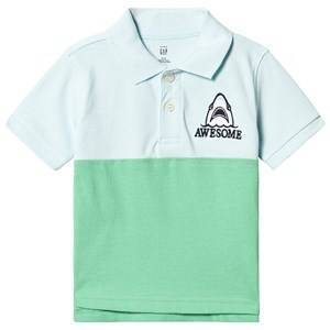 GAP Awesome Polo Blue Bleached Aqua 3 r