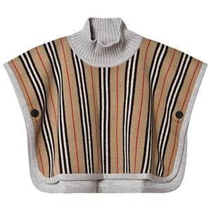 Burberry Reversible Icon Stripe Baby Poncho Archive Beige S (18-3 years)