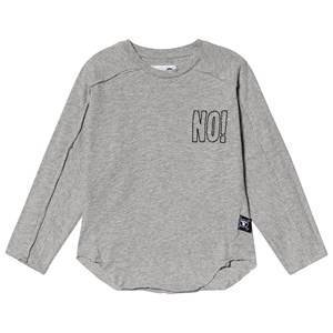 NUNUNU Brodert Nei!! T-Skjorte Heather Grey 2-3 r
