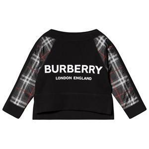 Burberry Checked Logo Sweatshirt Black 12 years