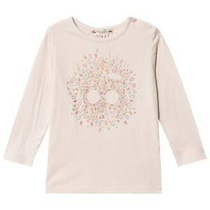 Bonpoint Cherry Paisley Long Sleeve Tee White 12 months