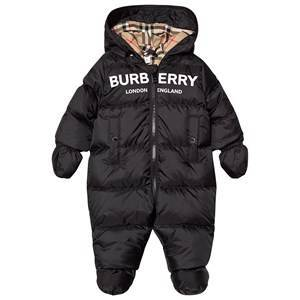 Burberry Logo Puffer Coverall Black 3 months