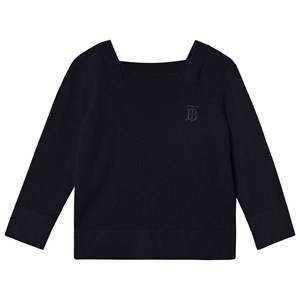 Burberry TB Knit Square Neck Kashmir Genser Navy 10 years