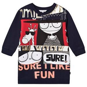Little Marc Jacobs Miss Marc Sure I Like Fun Sweat Dress Navy 6 years