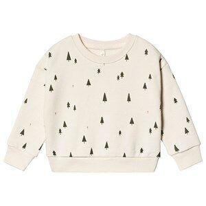 Rylee + Cru Trees Relaxed Sweatshirt Ivory 12-18 mnd