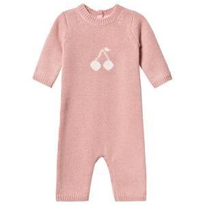 Bonpoint Cashmere Cherry Knit Footless One-Piece Pink 12 months