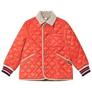 Burberry Diamond Quilted Jacket Bright Coral Orange 10 years