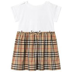 Burberry Icon Vintage Check Dress White 3 years