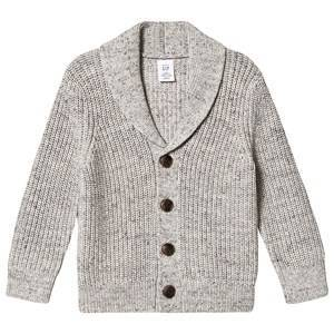GAP Shawl Collar Cardigan Light Heater Grey 2 r